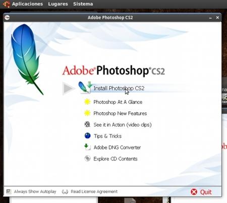 Adobe Photoshop con Wine 2