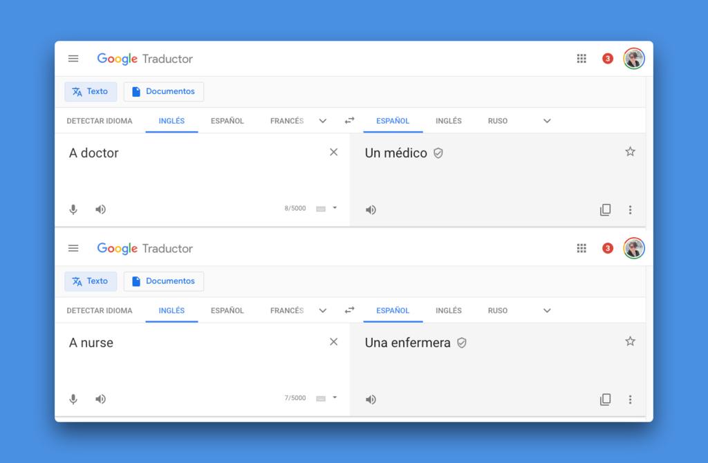 Google está intentando arreglar los sesgos de géneros que tiene su traductor