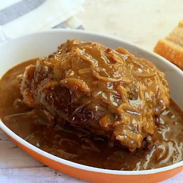 Receta tradicional de morcillo de ternera encebollado