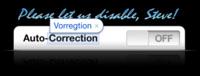 Petición online contra la función de autocorrección del iPhone