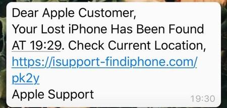 Mensaje Cuando Roban Iphone