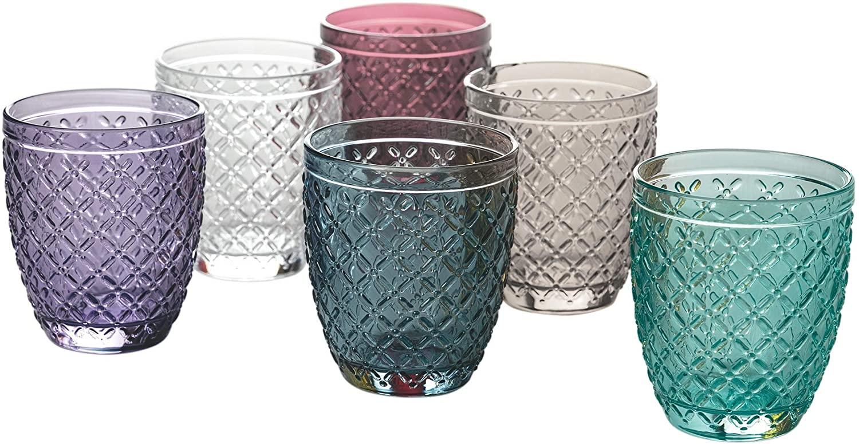 Villa d'Este Home Tivoli 5907721 Castle-Juego de 6 Vasos de Agua de 350 ml de Cristal, Vidrio