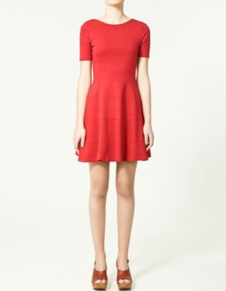 Zara vestido rojo