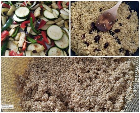 Quinoa Con Semillas Verduras Caramelizadas Receta Facil Para Cena Vegana