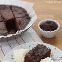 Receta de brownie express sin horno
