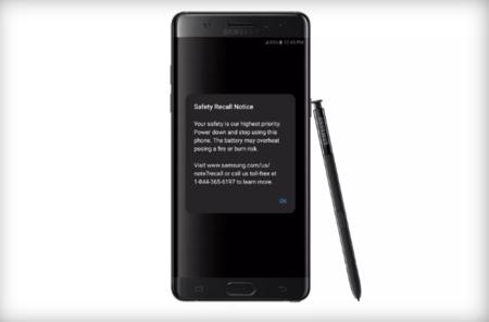 Samsung Galaxy Note 7 aviso