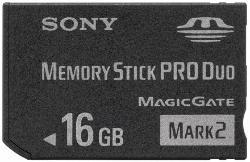 Nuevas Memory Stick Pro Duo de 16 GB