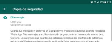 Cómo guardar tus conversaciones de WhatsApp en una copia de seguridad