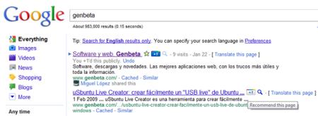 El botón de Google +1.