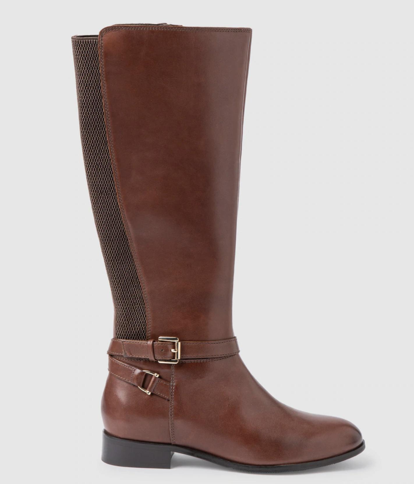 Botas de mujer Antea de piel en color marrón