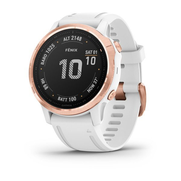 "Garmin Fénix 6S Pro Blanco - 1.2"", Sensores ABC, Frec. Cardiaca, Mapas, PacePro, GPS, ClimbPro, WiFi"