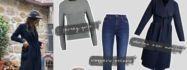 Dr.Martens granate y abrigo largo azul marino: el look de otoño perfecto de Sara Carbonero que ya puede ser tuyo