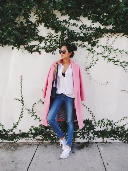 Aimee Song Pink Coat Skinny Jeans 21