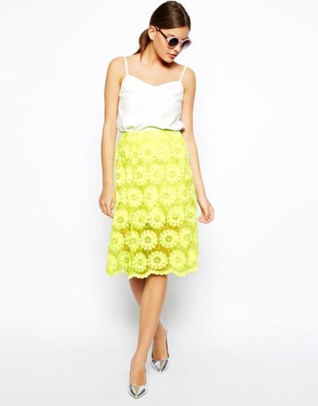 falda neon clon simone rocha