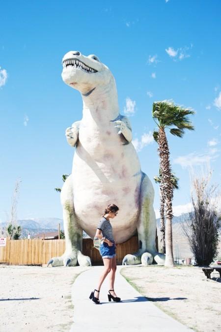 De camino a Palm Springs ¡zas! Avistamiento de dinosaurios