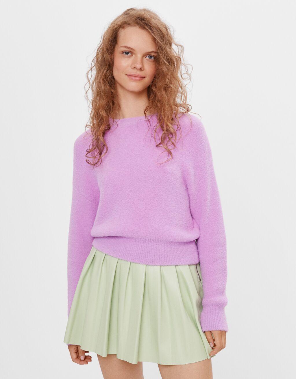 Jersey de pelo lila