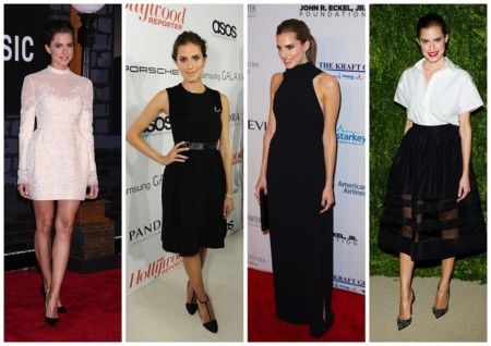 allison williams looks blanco y negro