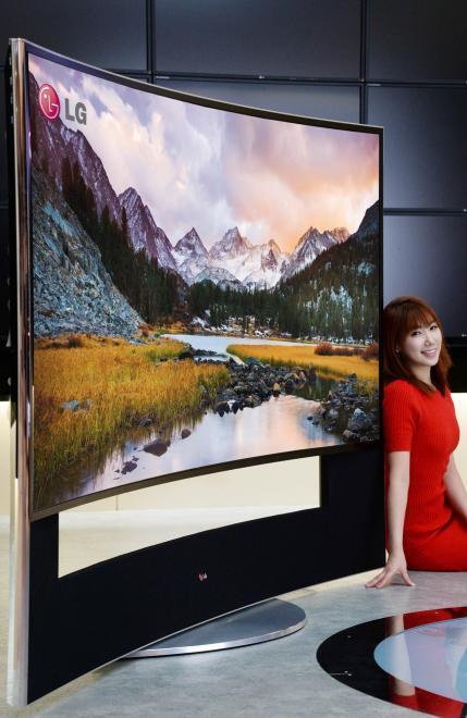 LG televisor curvado TFT