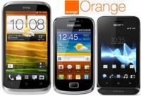 Precios HTC Desire X, Samsung Galaxy Mini 2 y Sony Xperia Tipo con Orange