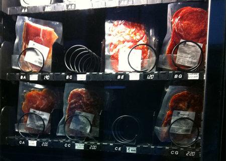 Máquina expendedora de churrascos y chuletones