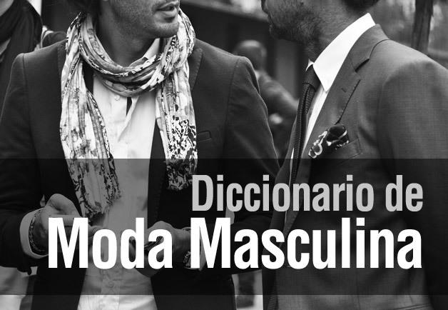 diccionario moda masculina