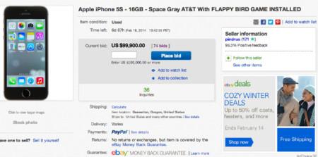Subastan iPhones a cien mil dólares en eBay... porque tienen Flappy Bird instalado