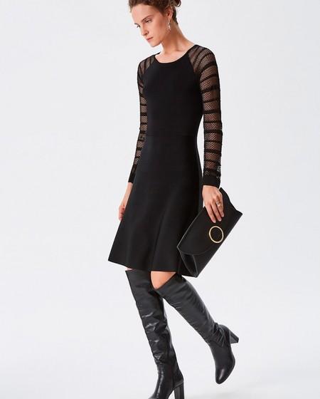 Vestido Negro Calado