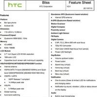 HTC Bliss, especificaciones técnicas completas del Android para féminas