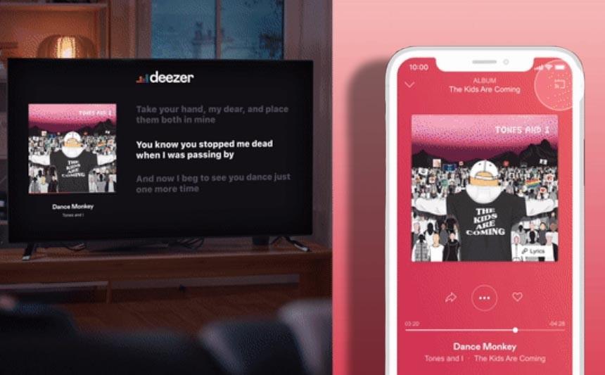 Deezer en este instante puede ser un karaoke: reconocimiento a Chromecast podemos visualizar en la