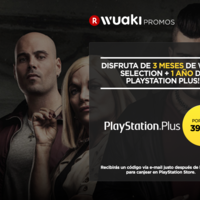 1 año de PlayStation Plus + 3 meses de Wuaki Selection por 39,99 euros