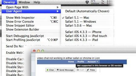 Cómo habilitar el chat de vídeo de Facebook en Safari 5 bajo OS X Lion