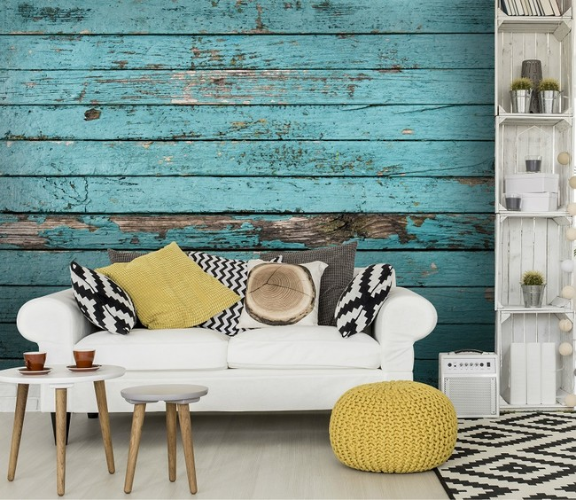 Old Painted Boards Wallpaper By Wallsauce Com