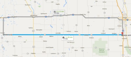 Autopista 46, Dakota del Norte