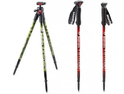 Manfrotto ha presentado un trípode ultraligero y unos sorprendentes bastones para senderismo con fijación para cámara
