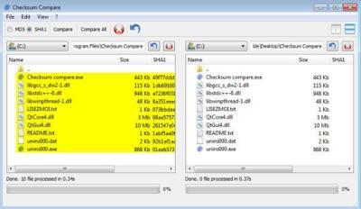 Checksum Compare, verificando la integridad de los ficheros de varias carpetas