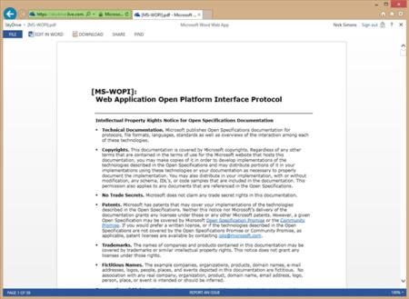 Word Web App ahora ofrece la lectura de documentos PDF