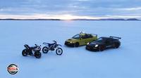 Porsche GT3 RS vs Yamaha YZF-R1 en la réplica de Paul Ricard en el Círculo polar ártico