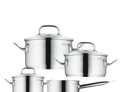 Batería de cocina de 4 piezas Profi Plus WMF rebajada en Amazon por sólo 84,99 euros y envío gratis