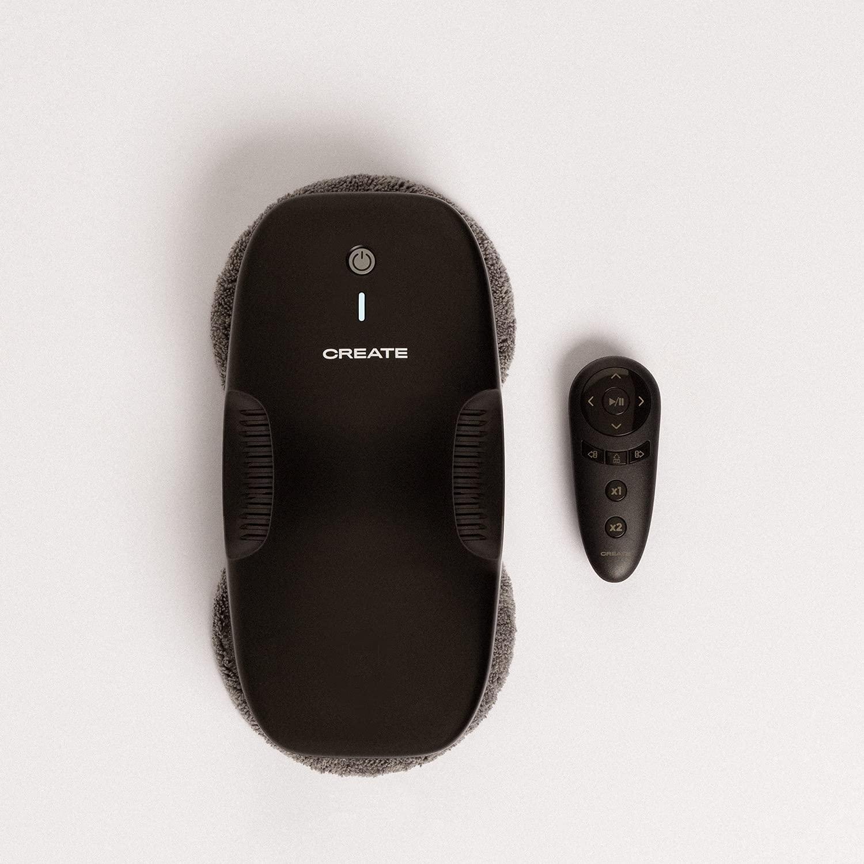 IKOHS Robot Limpiacristales WIPEBOT. Automático, Modos de Limpieza Zig Zag, 2 Mopas Giratorias, Cable 6m, Sensores Reconocimiento de Superficies y Bordes, Triple Sistema de Seguridad, Mando (Negro)