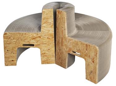 Muebles de cartón: el acordeón de Flexilove