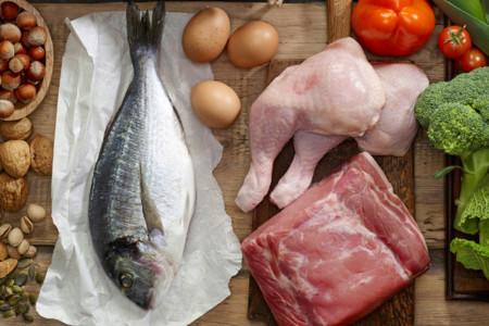 El contenido de proteínas y grasas de diferentes carnes