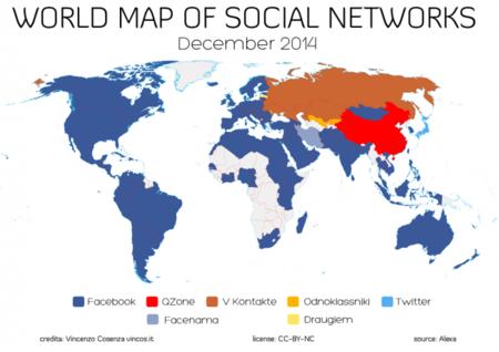 Facebook sigue conquistando el mundo pero Twitter le arrebata Japón, la imagen de la semana
