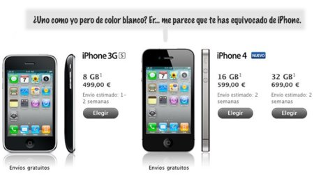 El iPhone 4 blanco desaparece de la Apple Store y corre peligro de ser completamente cancelado
