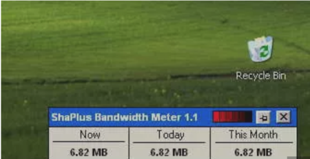 ShaPlus Bandwidth Meter
