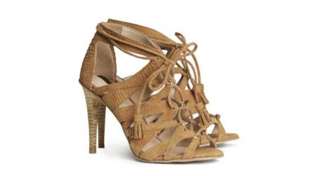 H&M colección Primavera-Verano 2014 Miranda Kerr clon sandalias Hermès