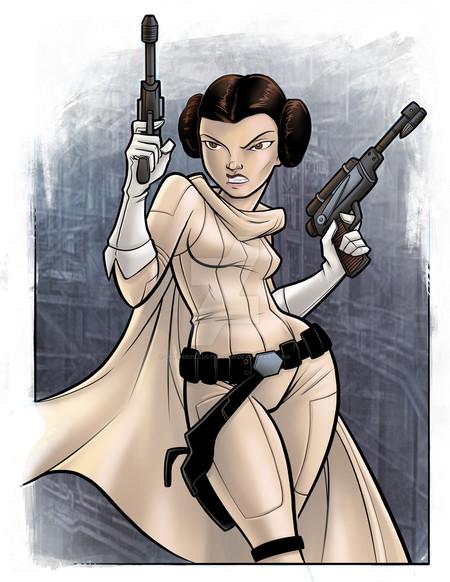 Princess Leia By Jpowersillustration D9t6w9y