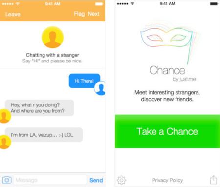 """Chance, el """"Chatroulette"""" de la mensajería instantánea para iOS"""