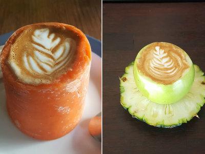 No, el avolatte (o café en la piel de aguacate) no es lo último: los baristas se divierten haciendo locuras con café y comida