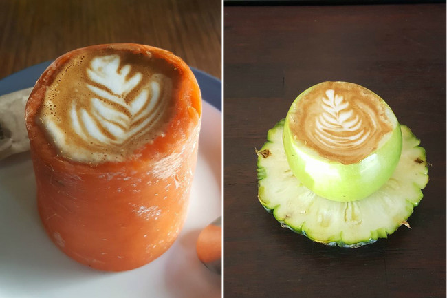 Cafés Lattes de comida