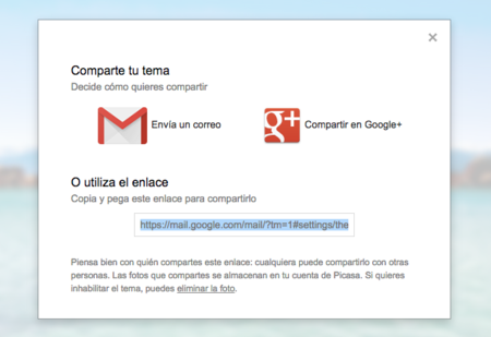 Gmail Panel Compartir